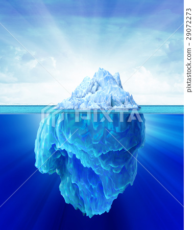Iceberg solitary in the sea. 29072273