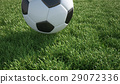 Soccer ball close up on grass lawn. 29072336