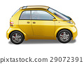 Yellow modern generic small city car. 29072391
