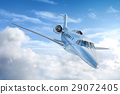 Private Jet airplane flying. 29072405