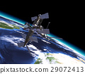 Mir Russian Space Station, in orbit on the earth. 29072413