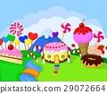 cartoon, cupcake, food 29072664