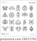 곤충 실루엣 29072763