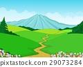 Beautiful green landscape background 29073284