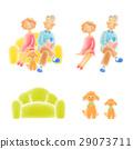 資深夫婦坐沙發 29073711
