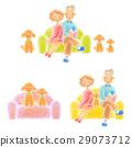 資深夫婦坐沙發 29073712
