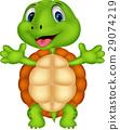 Cute turtle cartoon posing 29074219