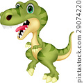 Cute tyrannosaurus cartoon 29074220