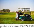 Golf car on the golf course 29074259