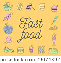 Fast food Icons Design Set.Vector Illustration 29074392