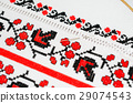 Slavic red and black embroidery by cross-stitch. 29074543