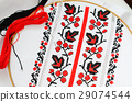 Slavic red and black embroidery by cross-stitch. 29074544