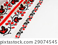 Slavic red and black embroidery by cross-stitch. 29074545