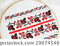 Slavic red and black embroidery by cross-stitch. 29074546