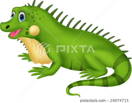 Cute iguana cartoon 29074715