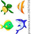 Sea life cartoon set 29074720