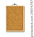 Cork board with wooden frame 29074797