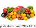 fruits and vegetables isolated on white background 29074818