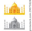 Taj Mahal in India. Vector illustration 29075828