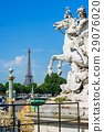 Mercury riding Pegasus in Tuileries garden. Paris 29076020