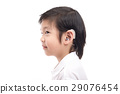 Asian child with hearing aid 29076454