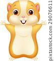 Cute hamster cartoon 29076611