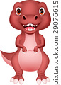 Cute cartoon dinosaur 29076615