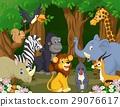 动物 卡通 森林 29076617