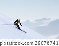 Skier in high mountains 29076741