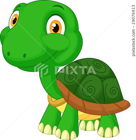 Cute tortoise cartoon 29076913