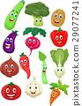 Cute vegetable cartoon character 29077241