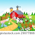 Farm background with animals 29077866