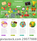 Soccer Banner and infographics 29077888