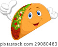 Taco cartoon giving thumb up 29080463
