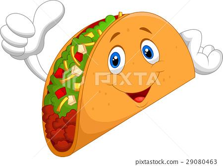 Taco cartoon giving thumb up 29080463