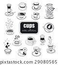 hand drawn teapots collection 29080565