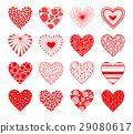 Valentine Day hearts set 29080617