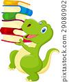 Cute dinosaur holding a book 29080902