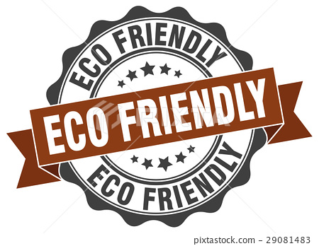 eco friendly stamp. sign. seal 29081483