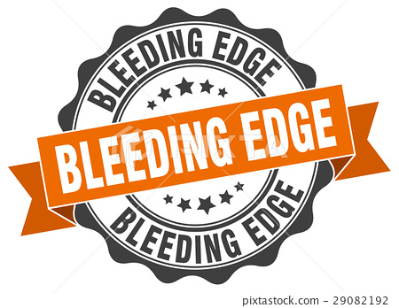 bleeding edge stamp. sign. seal 29082192