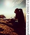 Photographer takes picture.Marvelous freeze autumn 29083713