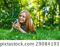female, smile, woman 29084193
