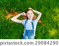 summer, park, girl 29084290