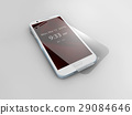 Screen protector film or glass cover isolated on 29084646