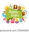 easter, vector, rabbit 29084664