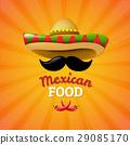 Food Mexican vector 29085170