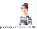 초상화 젊은 여성 29086303