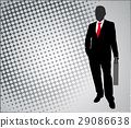 businessman on the abstract background 29086638