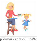 mother daughter vector 29087492