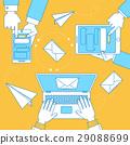Online communication illustration, banner design 29088699